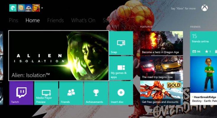 xbox one update novembre