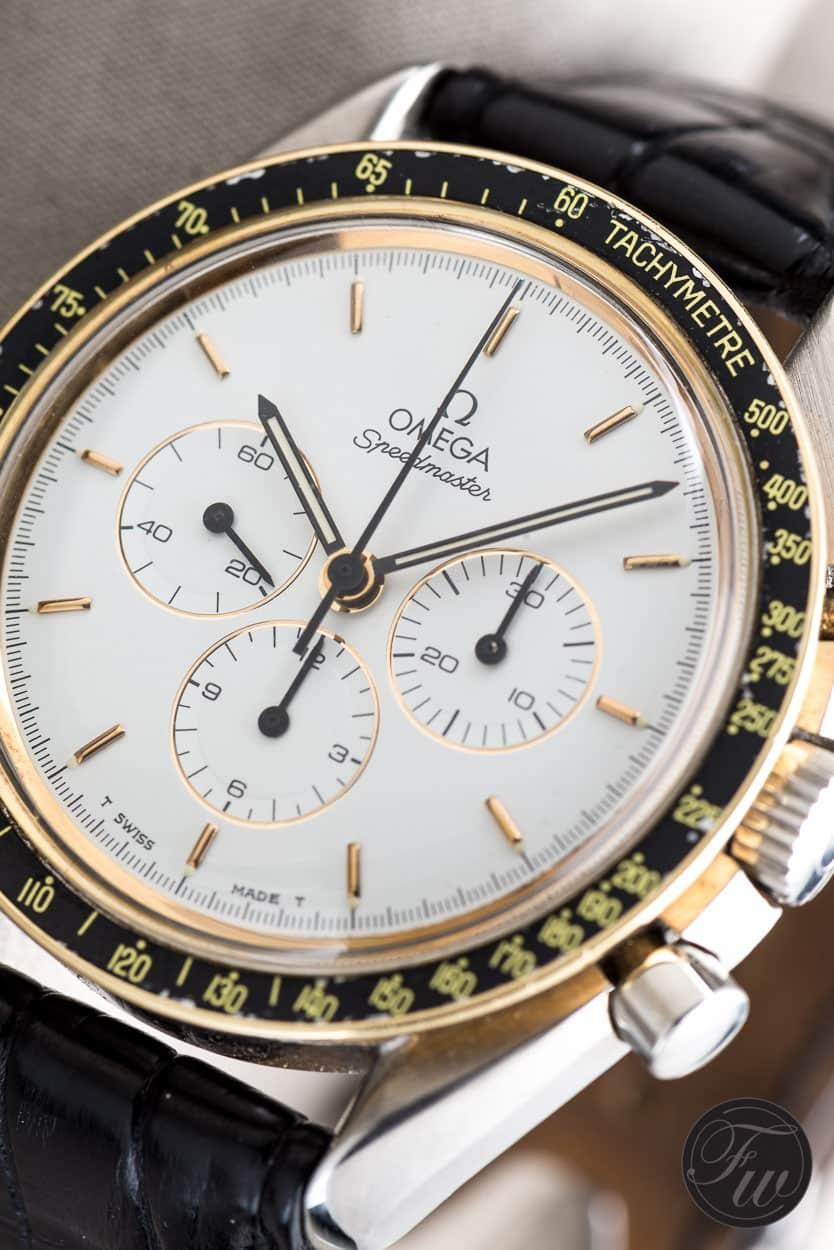 white dial Omega Speedmaster