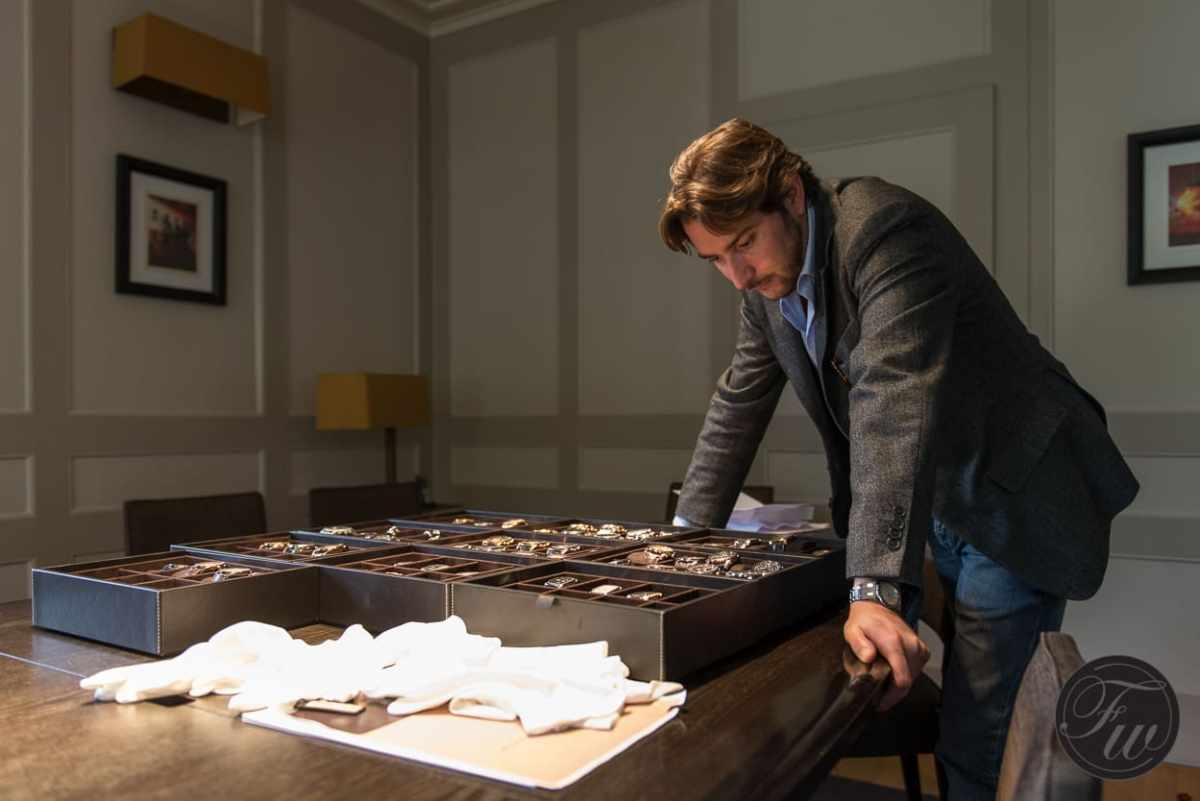 Marco Gabella of Watchonista having a look at the Pf collection