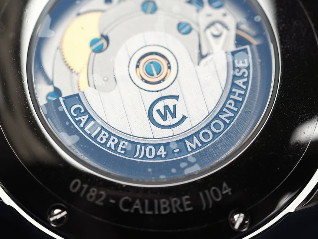 Lovely finishing on the rotor of the Christopher Ward C9 Moonphase