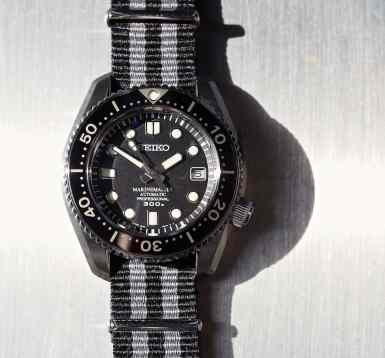 The Seiko MM300 features a big protruding screw-down crown - it's easy to grab