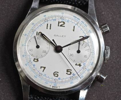 Gallet Multichron 45 dial close up