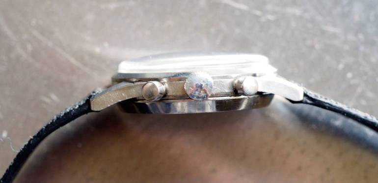 Gallet Multichron 45 side view
