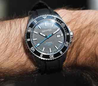 The Eberhard Scafograf 300 on the wrist