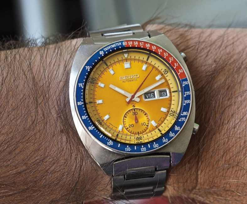 The Seiko 6139 Pogue on the wrist