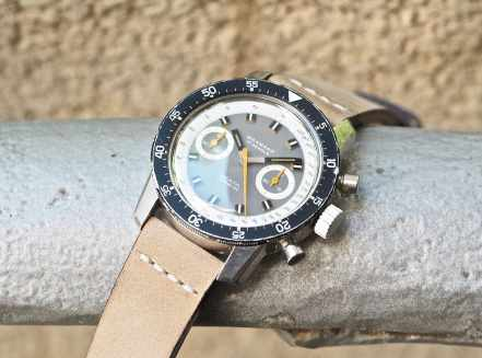 This lovely 20mm leather strap as seen on the Wakmann Big Boy was a great purchase from Andreas at gregoriades.com