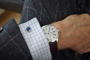 - Drive the Cartier with silver Cartier Santos Cufflinks -