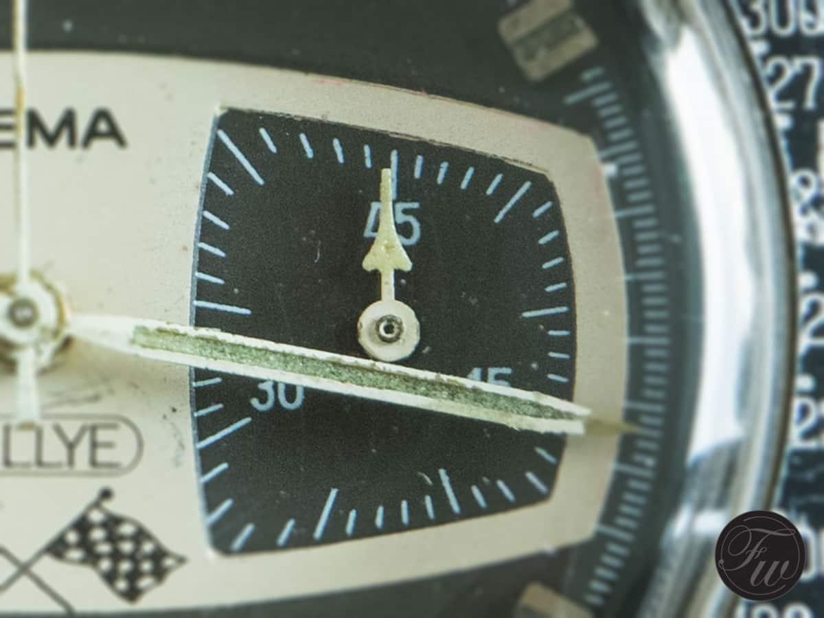 Yema Rallye with a 45-min counter (Valjoux 7730)