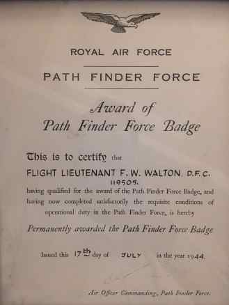 FWW certificate of being awarded the pathfinder badge-1
