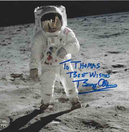 Buzz Aldrin dedicated photo