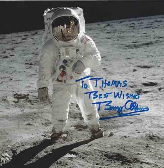 Buzz Aldrin dedicated photo