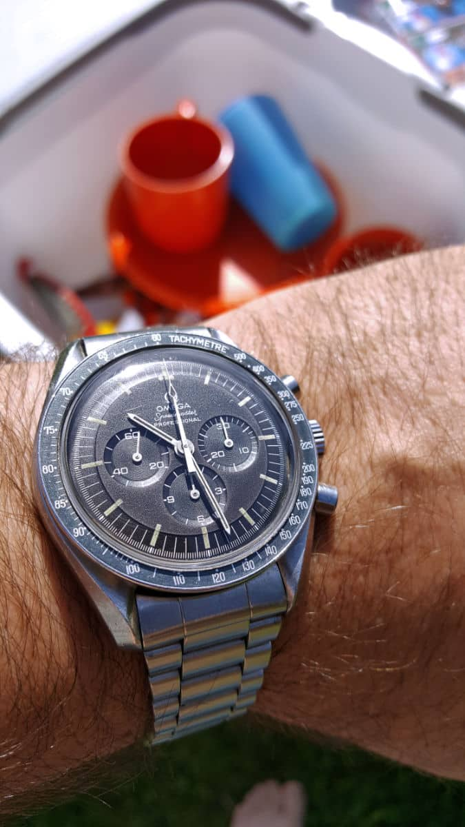 Speedmaster at the campsite
