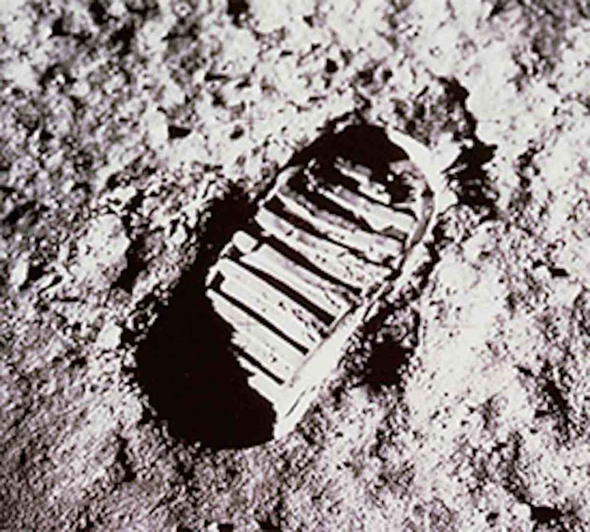 The first footprints on the moon... (Photo credit: NASA)