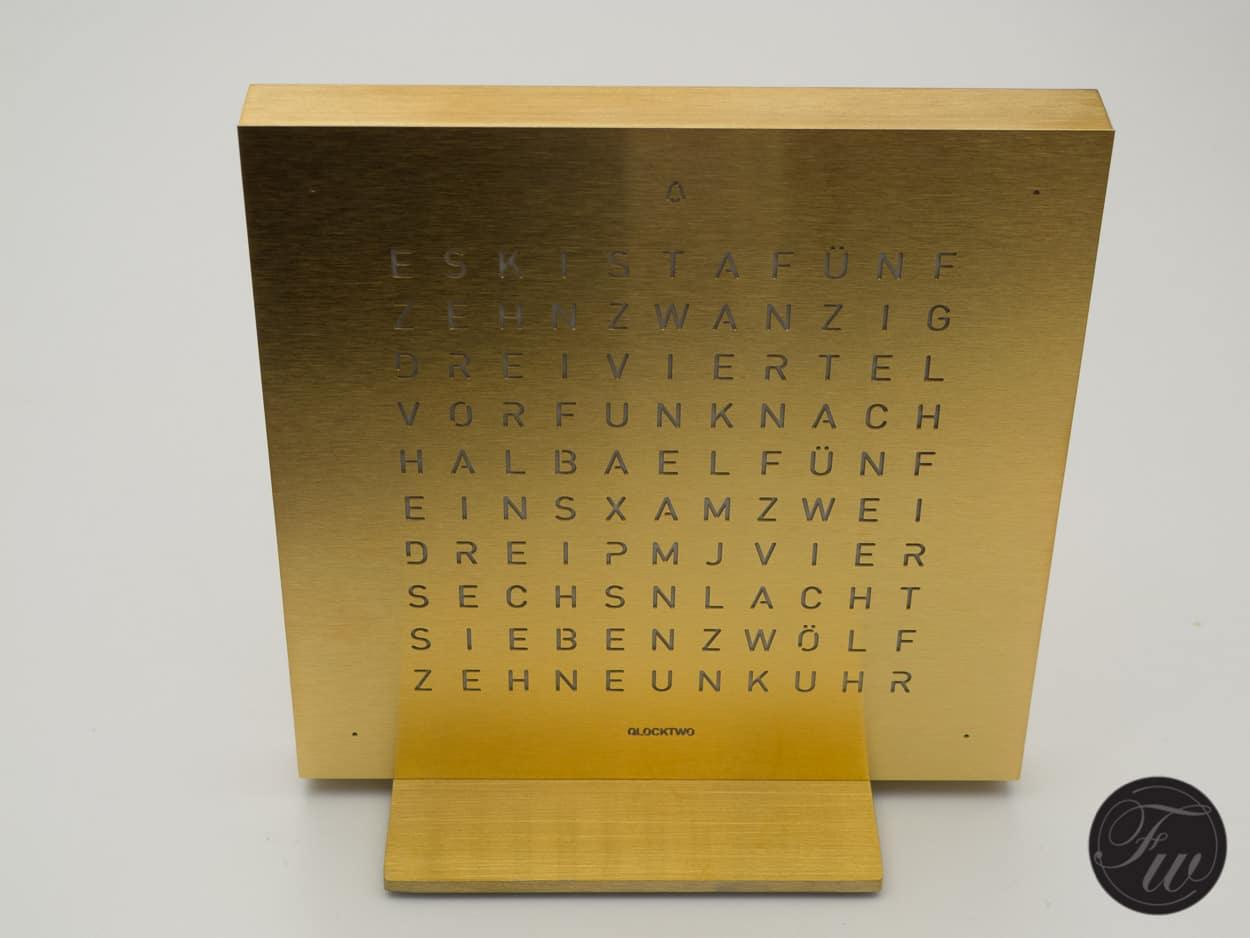 QlockTwo by Biegert & Funk - It Is A Quarter To Three