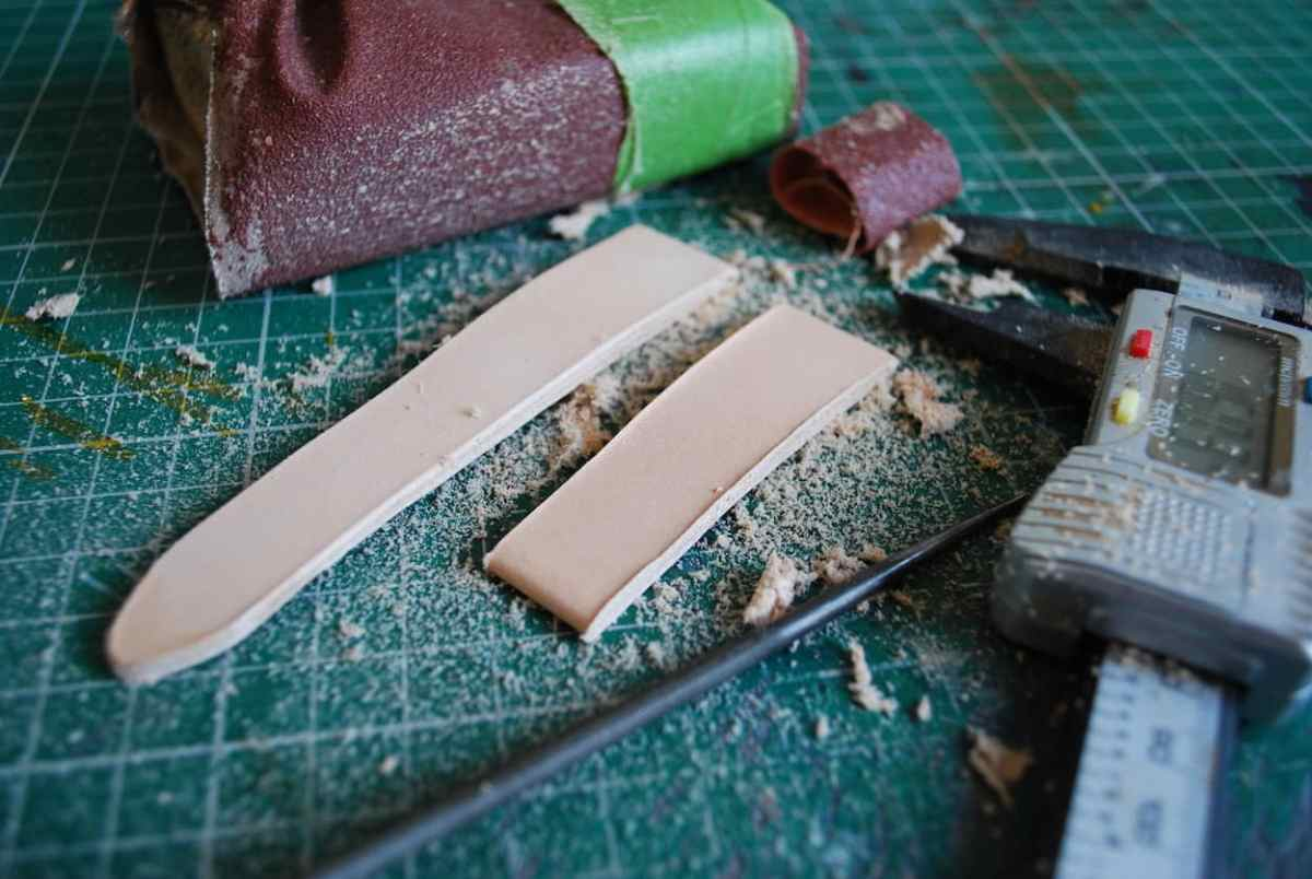 Sanding and measuring on BCatt watch straps