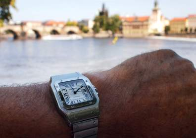 - Santos Galbée XL on the wrist -