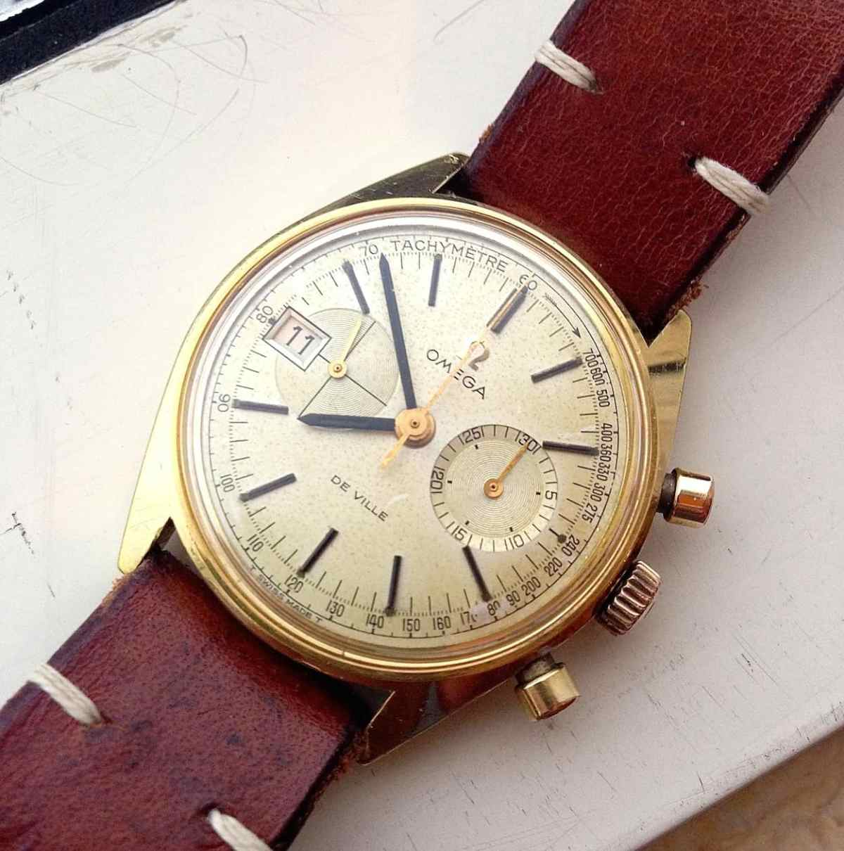 The Omega DeVille chronograph has kept perfect time since arriving.