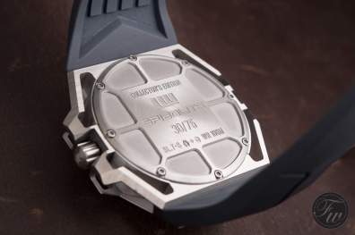 Caseback of the Linde Werdelin SpidoLite Titanium