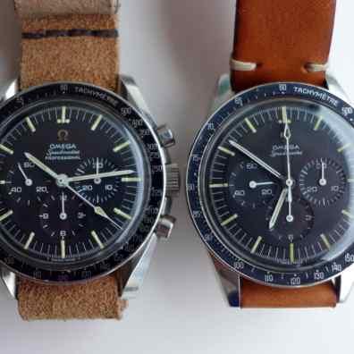 Speedmaster duo: 105.012-66CB and 105.003-65