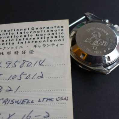 Engraved caseback of the Omega Speedmaster Professional 105012-66CB