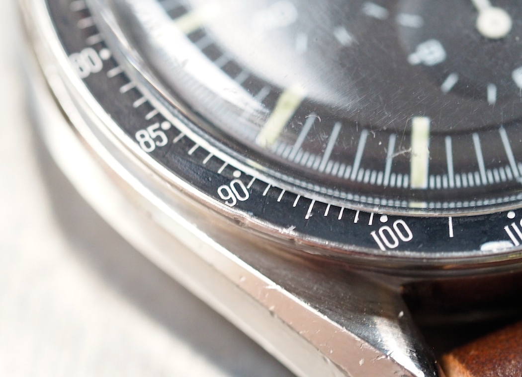 """The """"DON"""" bezel on the Omega Speedmaster 145.012 - such a silly but important detail"""