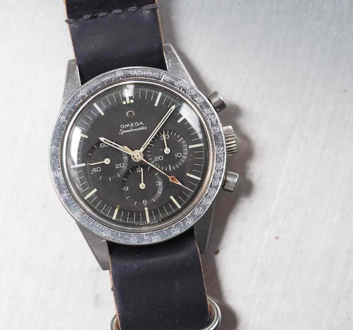 "A recent acquisition - a rough and tumble 105.003 ""Ed White"" Speedmaster. This model was used on the first EVA in 1965."