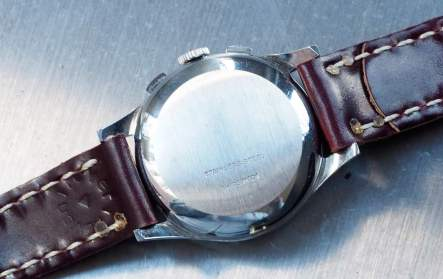 The snapping case back on the Clebar chronograph