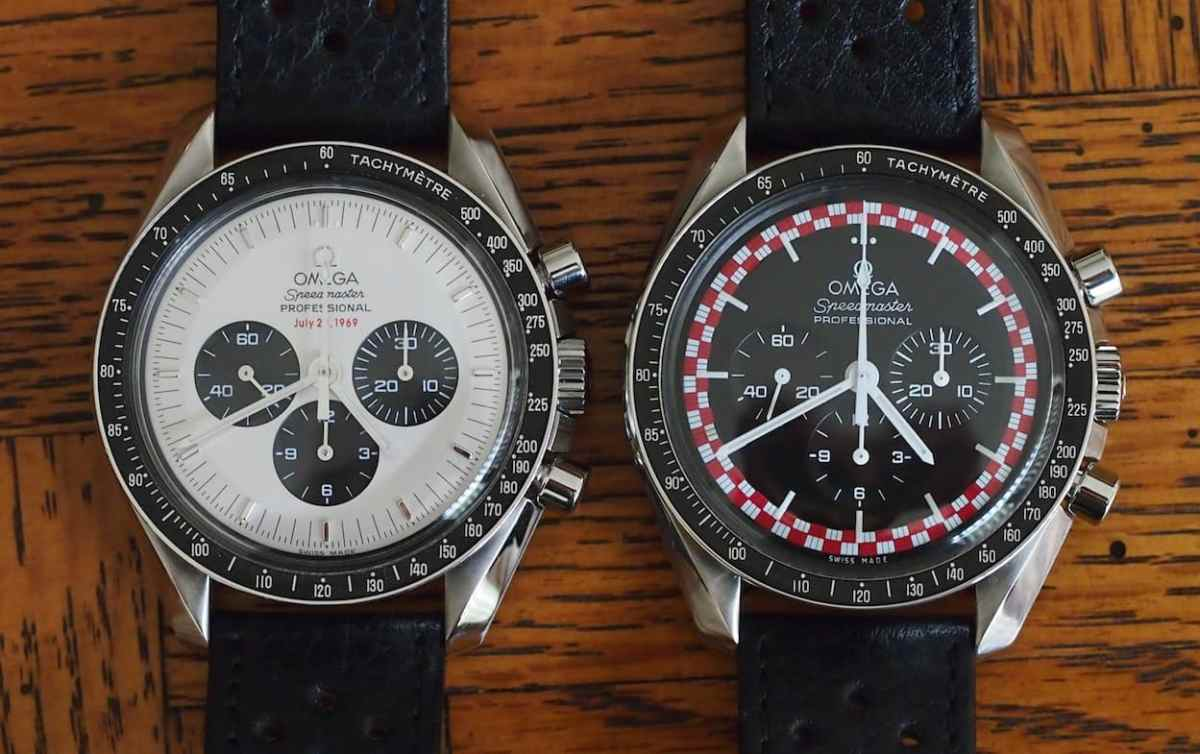 My first Speedmaster on the right - the Tin Tin - with my Dad's Apollo 11 on the left