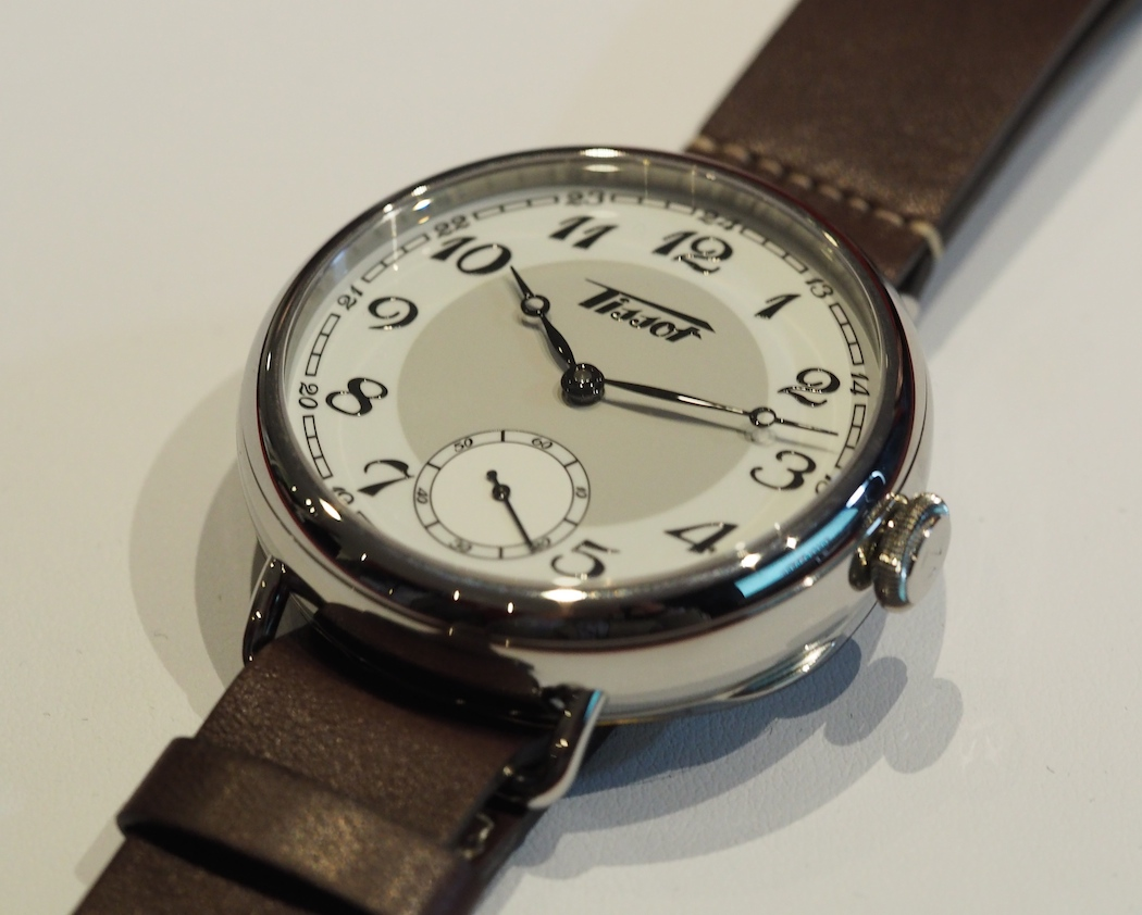 The Tissot 1936 Heritage - note the rear case access lip in the lower right hand corner.