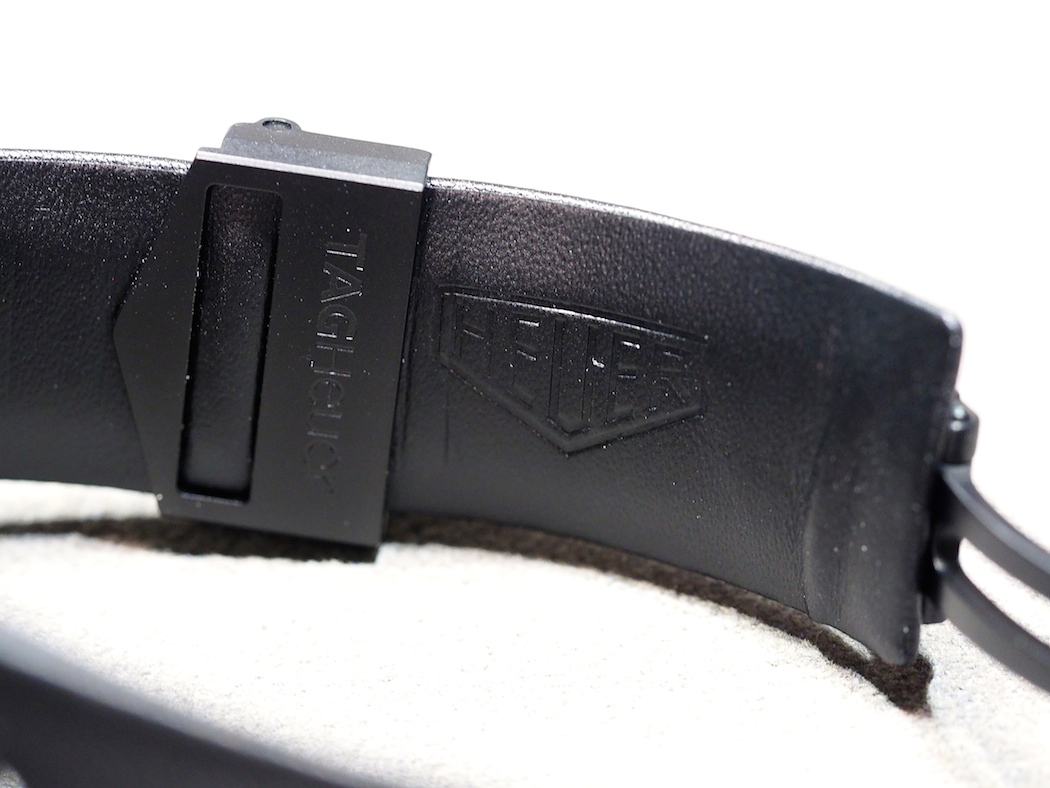 A look at the backside of the TAG Heuer Monza leather strap