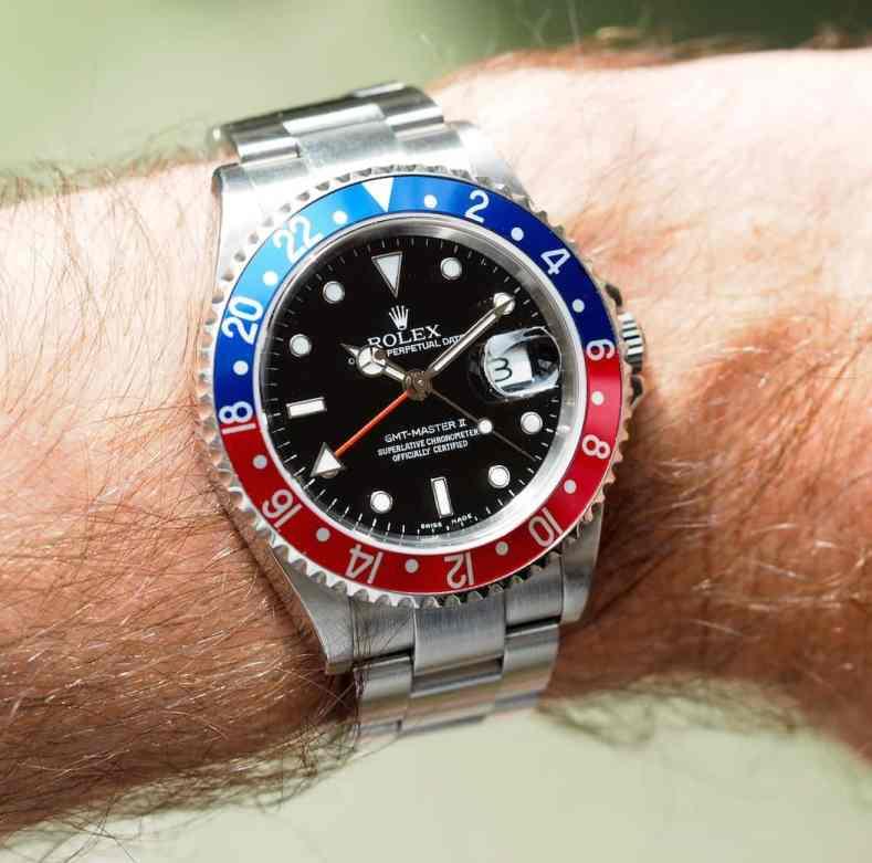 Rolex 16710 GMT-Master II on the wrist