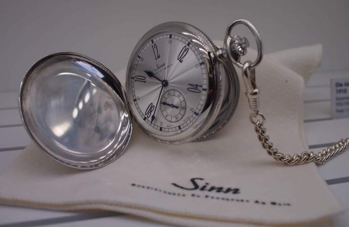 The prototype pocket watch in silver