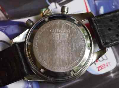 Heuer Autavia 2446 case back