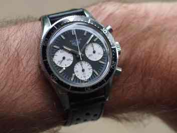 Heuer Autavia 2446 on the wrist