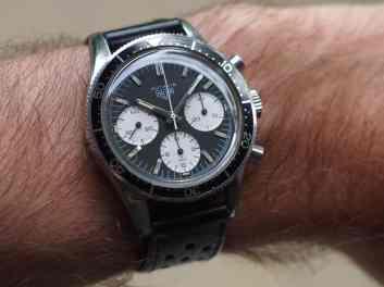 Heuer Autavia 2446 on the wrist