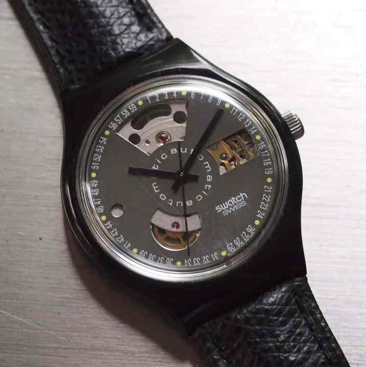 "The original Swatch Automatic ""Black Motion"""