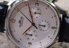 Fortis Tycoon dial detail