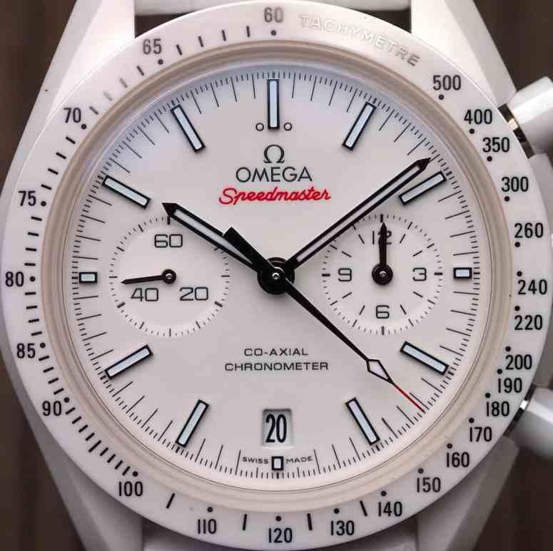 Speedmaster White Side of the Moon full dial