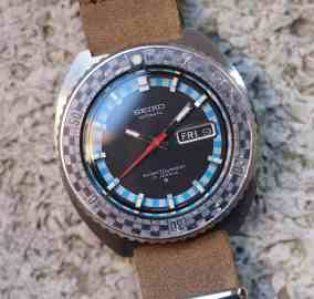 Seiko Rally Diver head on