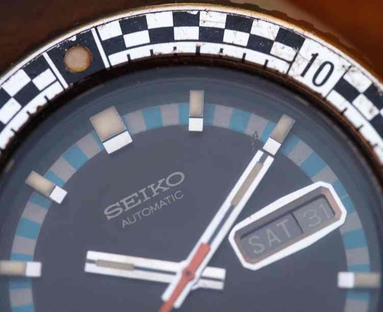 Seiko Rally Diver dial closeup