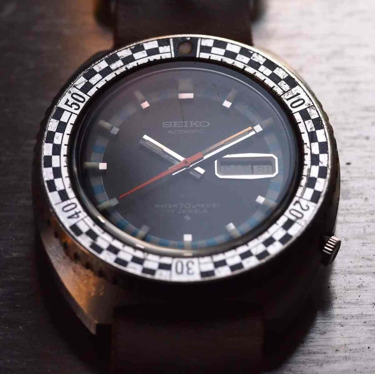 Seiko Rally Diver dark shot