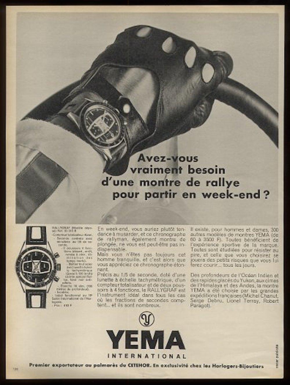 An original Yema Rallye ad (photo credit: https://sites.google.com/site/yemaniasemaines/)
