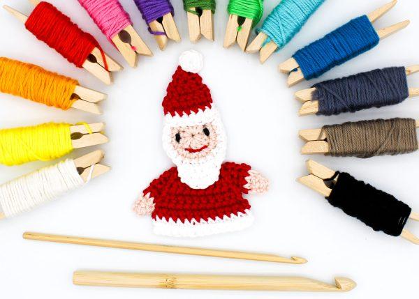 Frau Line Häkelanleitung Weihnachtsmann