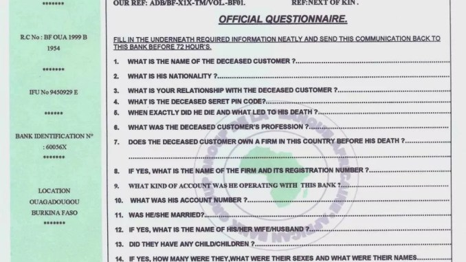 ADB BANK GROUP Scams