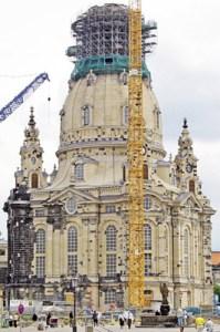 Rohbau der Dresdner Frauenkirche