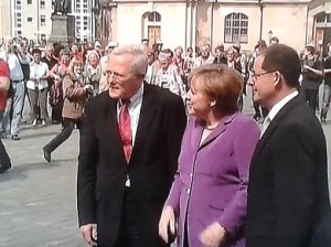 Bundeskanzlerin Angela Merkel in Dresden