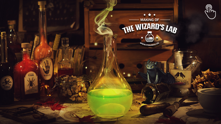 The Wizards Lab - Halloween Last Minute Deco Inspiration - by fraumau