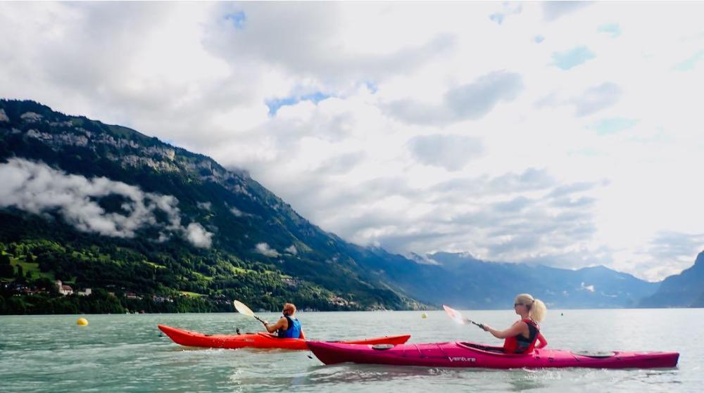Melanie und Thomas im Kayak