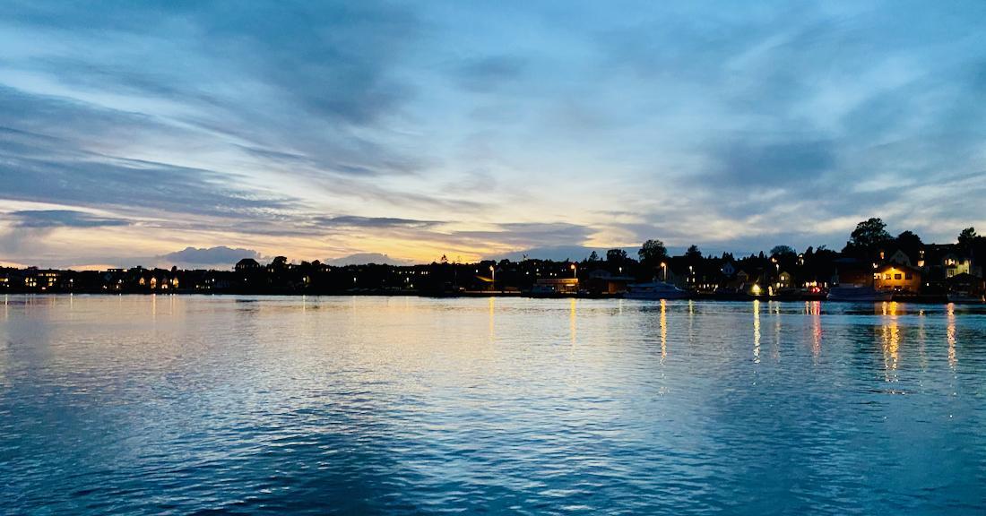 Sonnenuntergang in Sønderborg
