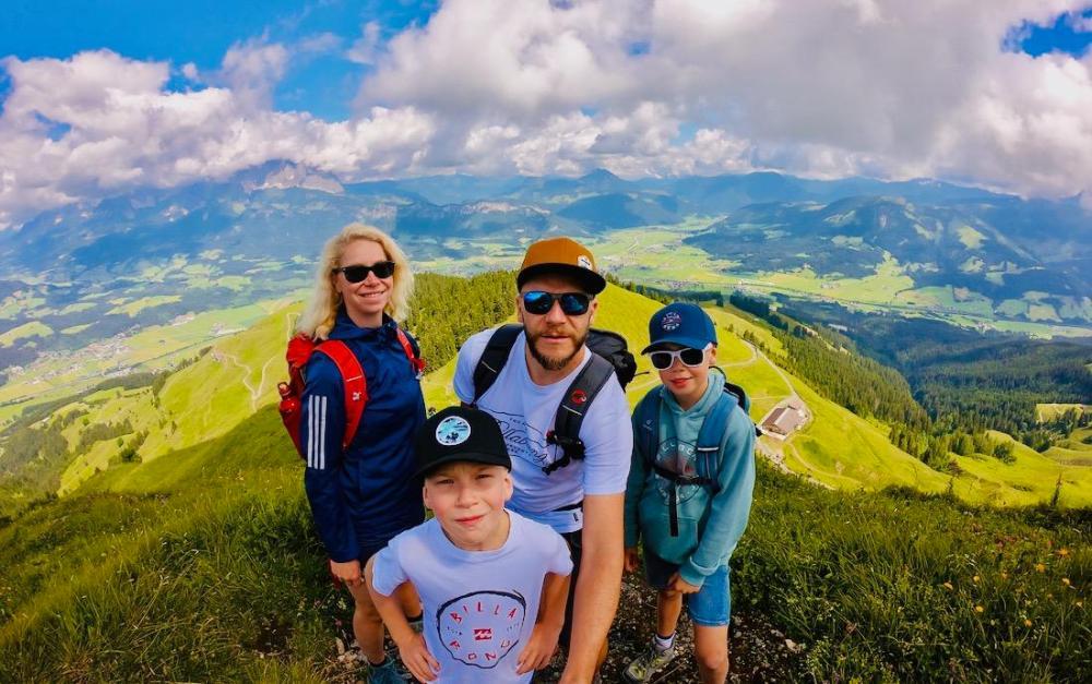 Wir in den Kitzbüheler Bergen